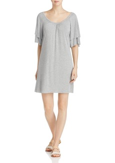Three Dots Layered Sleeve Tee Dress
