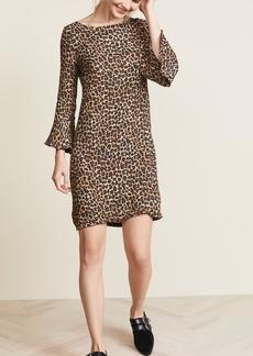 Three Dots Leopard Print Dress