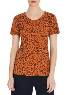 Three Dots Leopard Print Tee