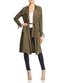Three Dots Lightweight Twill Trench Coat