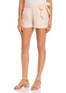Three Dots Linen Cuffed Shorts