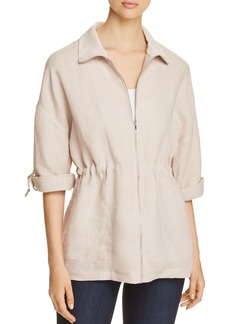 Three Dots Linen Drawstring Jacket