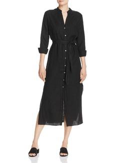 Three Dots Linen Midi Shirt Dress
