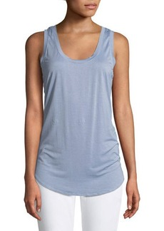 Three Dots Long Jersey Scoop-Neck Tank Top