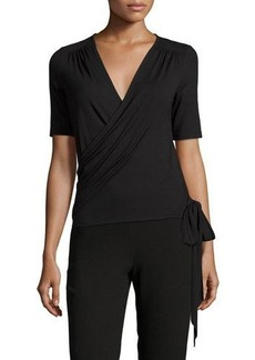 Three Dots Madeline Jersey Wrap Top