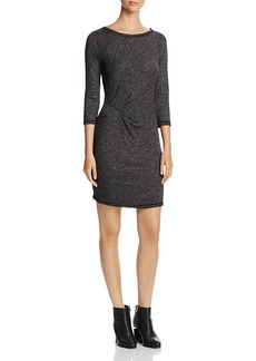 Three Dots Marled Side Cinched Dress
