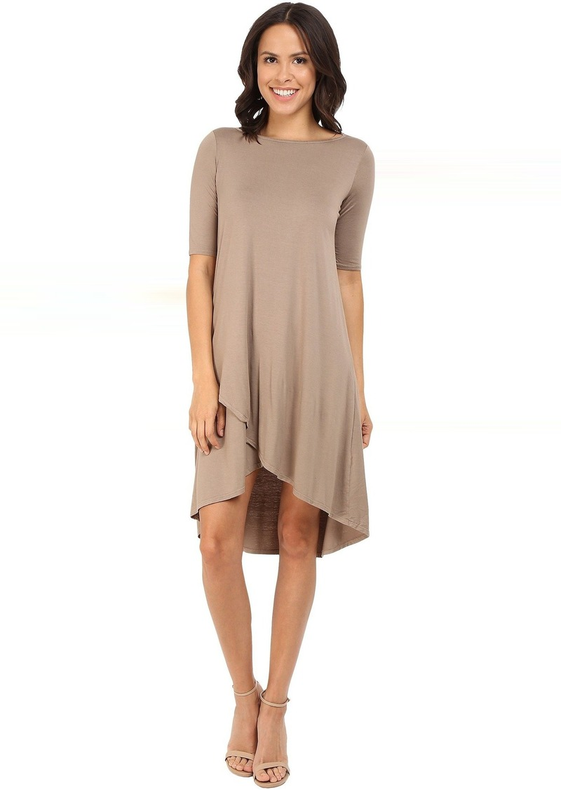 Three Dots Olya A 3/4 Sleeve High-Low Dress