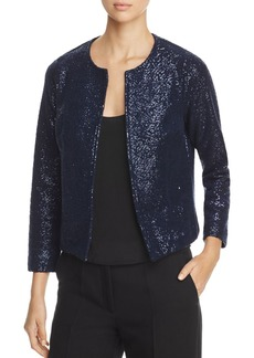 Three Dots Open Front Sparkle Knit Jacket