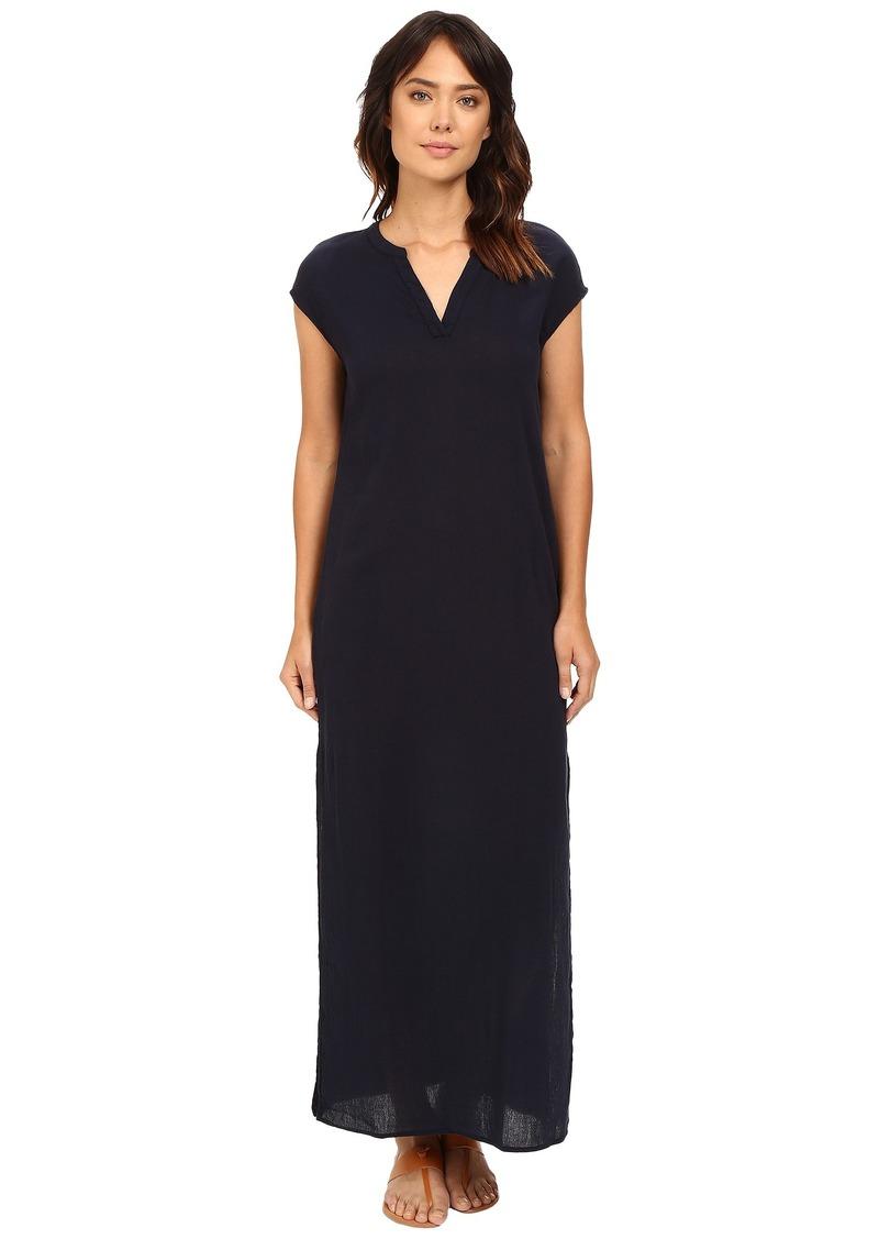 Three Dots Phi B Short Sleeve Long Dress