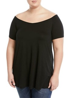 Three Dots Plus Off-The-Shoulder Swing Tee