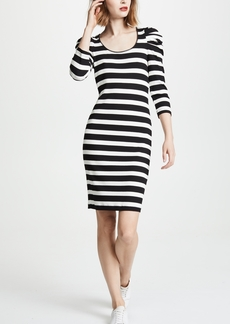 Three Dots Puff 3/4 Sleeve Dress