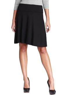 Three Dots Red Women's Foldover Skirt