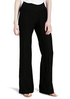 Three Dots Red Women's Linen Wide Leg Pant