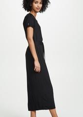 Three Dots Refined Jersey Midi Dress