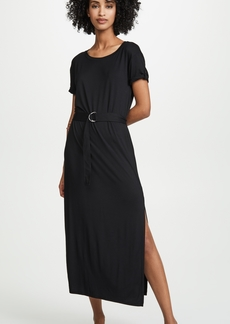Three Dots Refined Jersey Midi Dress
