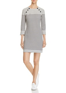 Three Dots Reversible Striped Dress