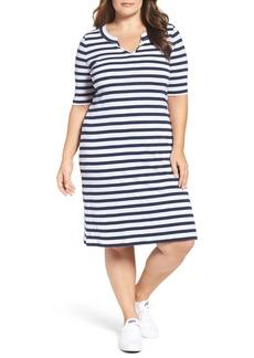 Three Dots Rib Knit T-Shirt Dress (Plus Size)