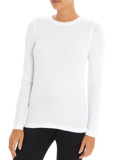 Three Dots Ribbed Crewneck Top
