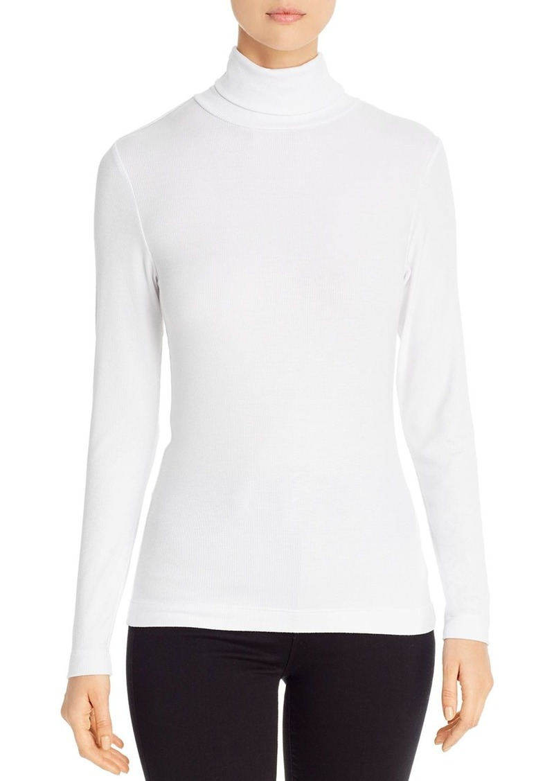 Three Dots Ribbed Turtleneck Tee