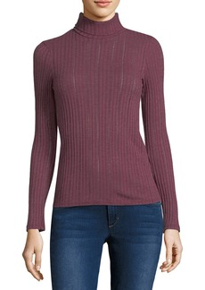 Three Dots Ribbed Turtleneck Top