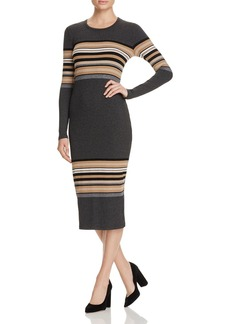 Three Dots Rosita Multi Stripe Sweater Dress