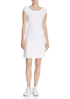 Three Dots Ruched Boat Neck Dress - 100% Exclusive