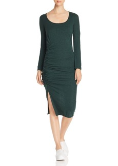 Three Dots Ruched Knit Dress