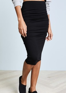 Three Dots Ruched Midi Skirt