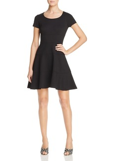 Three Dots Seamed Ponte Dress