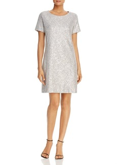 Three Dots Sequin T-Shirt Dress