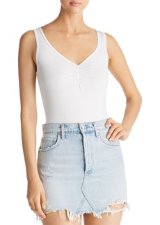 Three Dots Shirred Jersey Bodysuit