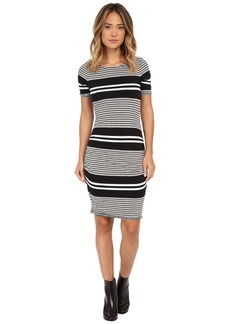 Three Dots Short Sleeve Rouched Dress