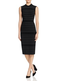 Three Dots Sleeveless Mock Neck Sheath Dress