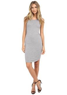 Three Dots Sleeveless Shirred Dress