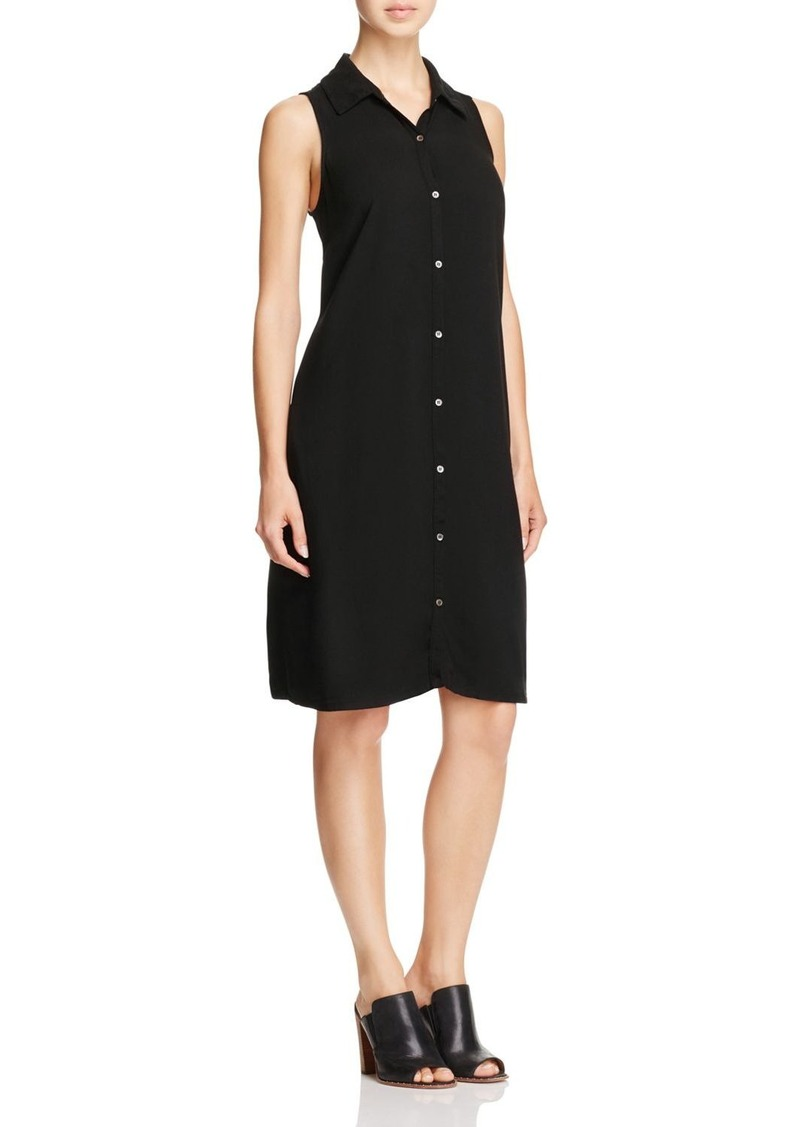 Three Dots Sleeveless Shirt Dress