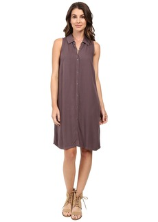 Three Dots Sleeveless Shirtdress