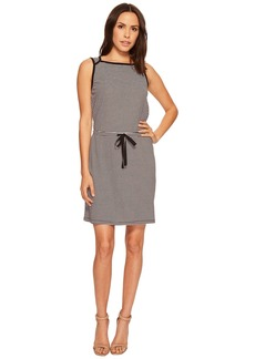 Three Dots Sleeveless Tie Front Dress