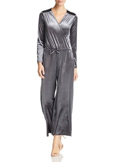 Three Dots Stretch Velvet Crossover Jumpsuit