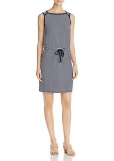 Three Dots Stripe Drawstring Waist Dress