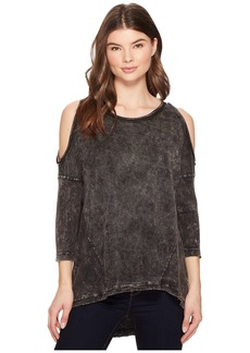 Three Dots Thermal High-Low Cold Shoulder