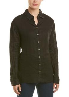 Three Dots Tie-Front Linen Shirt