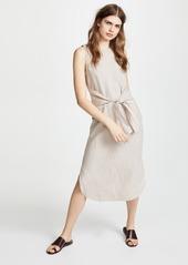 Three Dots Tie Front Midi Dress