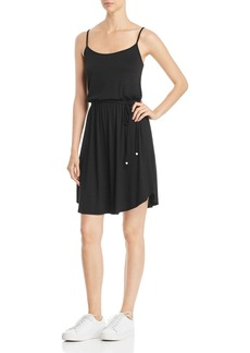 Three Dots Tie-Waist Jersey Dress