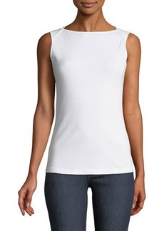 Three Dots Twisted Open-Back Tank Top