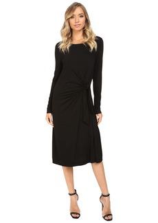 Three Dots Whitney B. - Long Sleeve Twist Dress