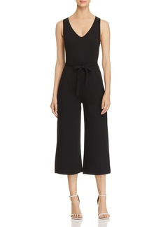 Three Dots Wide-Leg Cropped Jumpsuit