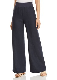 Three Dots Wide-Leg Linen Pants