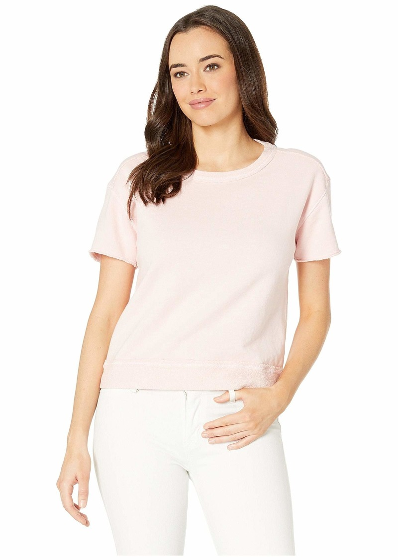 Three Dots Women's 3 END Fleece Shortsleeve Boxy TOP