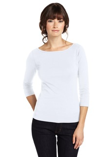 Three Dots Women's 3/4 Sleeve British Tee