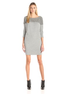 Three Dots Women's 3/4 Sleeve Sherpa Dress
